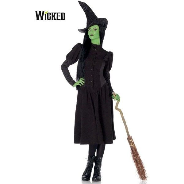 Sexy Wicked Witch of the West Elphaba Costume for Women ($75) ❤ liked on Polyvore featuring costumes, halloween costumes, multicolor, sexy halloween costumes, white witch costume, sexy women halloween costumes, leg avenue costumes and white costume