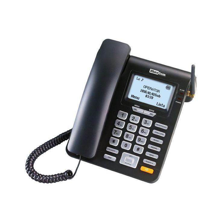 Draadloze vaste telefoon met SMS functie   Maxcom MM28D  Deze stijlvolle GSM bureautelefoon van het merk Maxcom steekt kwalitatief boven het maaiveld uit. Het design is mooi gebogen de fabricage zeer deugdelijk en is er sprake van een eenvoudig gebruiksgemak.De antenne van de Maxcom MM28D heeft een sterk ontvangst. De beltonen zijn in 11 verschillende volumeniveaus instelbaar. Daarmee is dit toestel ook zeer geschikt voor gebruik in bijvoorbeeld zorginstellingen. Daarnaast is het stemvolume…