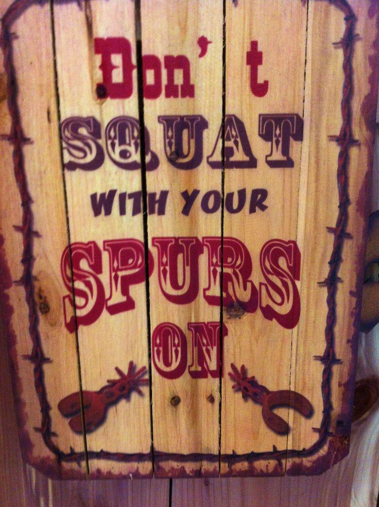 sign in cowboy shop