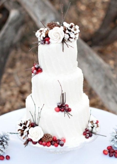 93 besten Awesome winter wedding cakes Bilder auf Pinterest