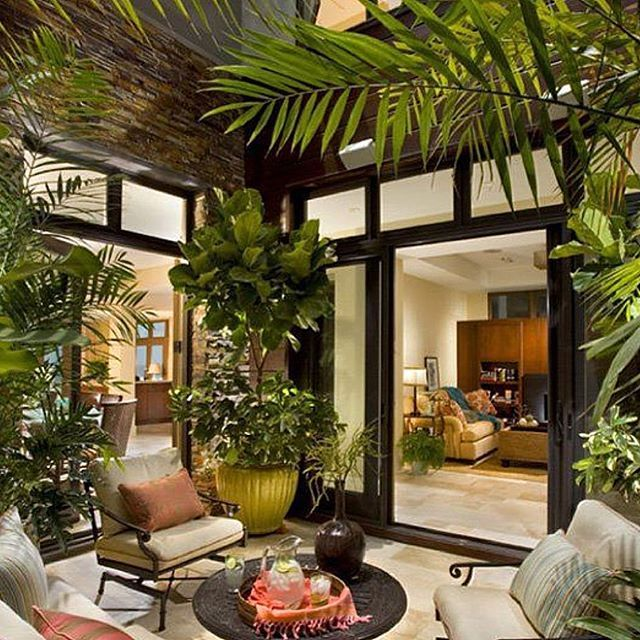 Picturesque outdoor living  #jamjam #outdoor #palm #homeliving #lounge #outdoor