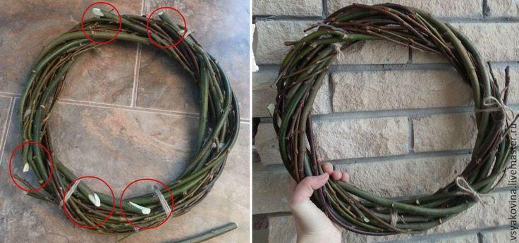 Венок из лозы вербы — от заготовки до плетения - Ярмарка Мастеров - ручная работа, handmade