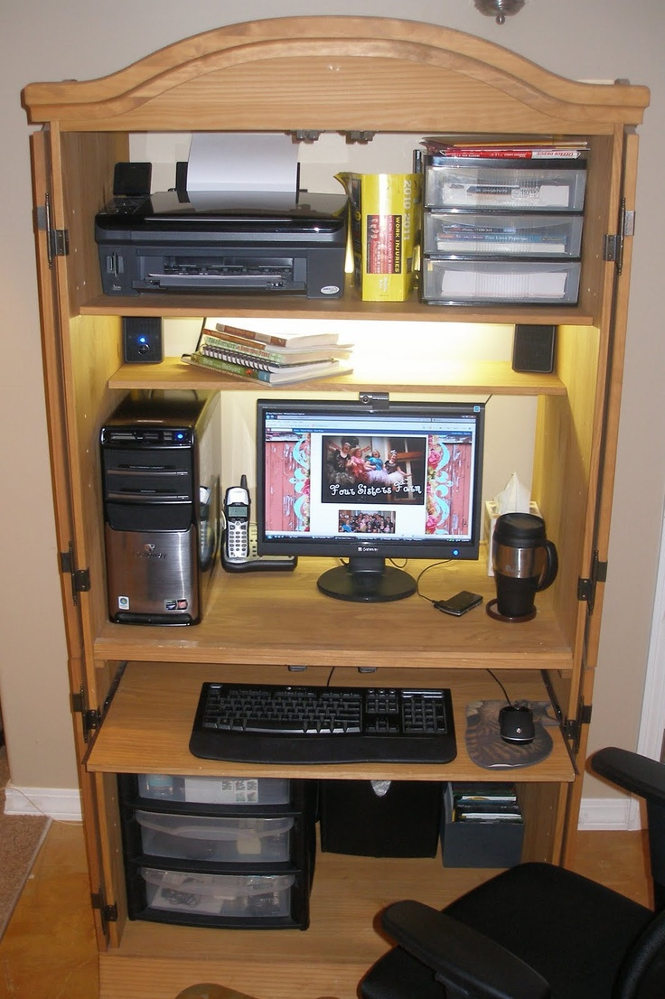 Perfect Ideas About Computer Armoire On Pinterest  Craft Armoire Computer