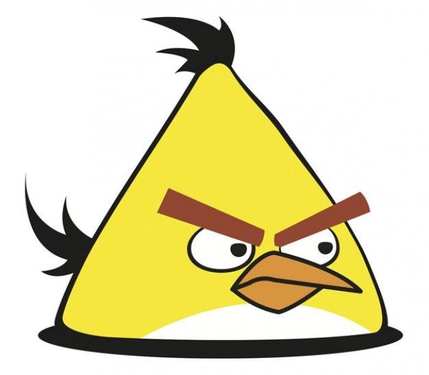 vector pássaro amarelo com raiva