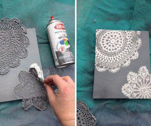 Doily Canvas Art DIY Tutorial | Hip Home Making