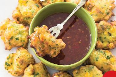 Sweet corn fritters recipe, NZ Woman's Weekly – visit Food Hub for New Zealand recipes using local ingredients – foodhub.co.nz