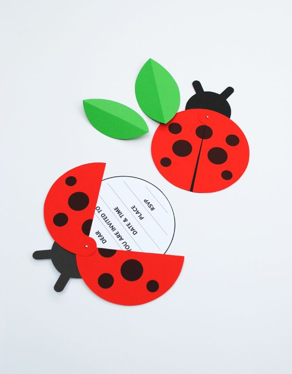 DIY Ladybird Party Invite Tutorial with FREE Printable