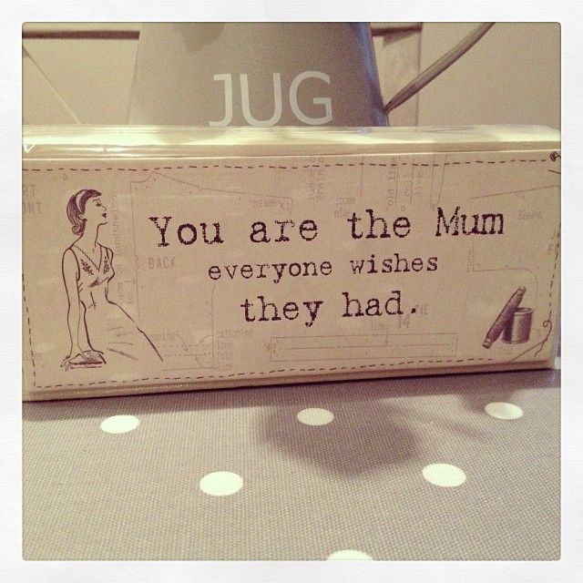 You are the mum everyone wishes they had Lovely block sign by East Of India In Vintage Distressed Cream 18 x 6 5 x