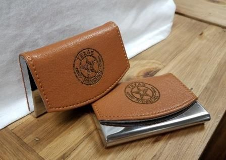 78 best products we love images on pinterest gift shops the business card holder the perfect stocking stuffer has arrived new business card holders feature the badge engraved in leather around a stainless steel reheart Gallery