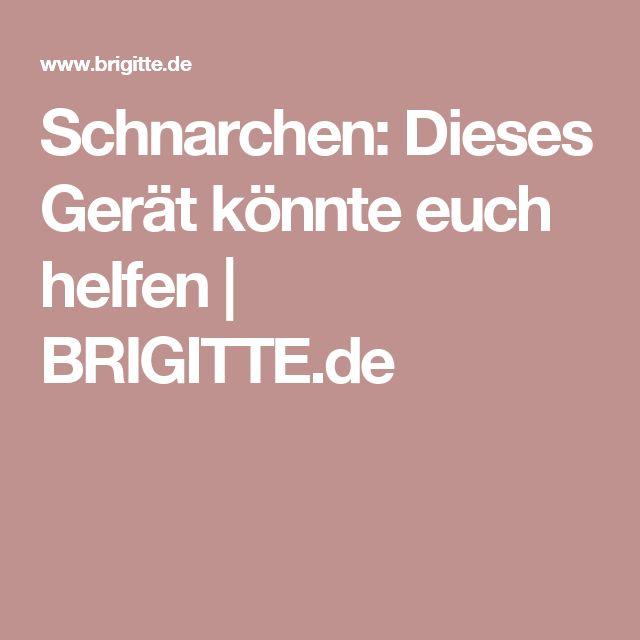 Schnarchen: Dieses Gerät könnte euch helfen | BRIGITTE.de