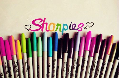 Sharpie markers! Fine, ultra-fine, it doesn't matter. I love them all!
