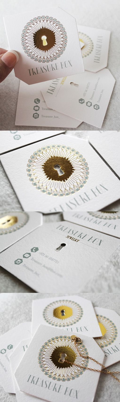 1465 best business card design images on pinterest business elegant die cut and gold foil embossed business card for a jewelry store magicingreecefo Gallery