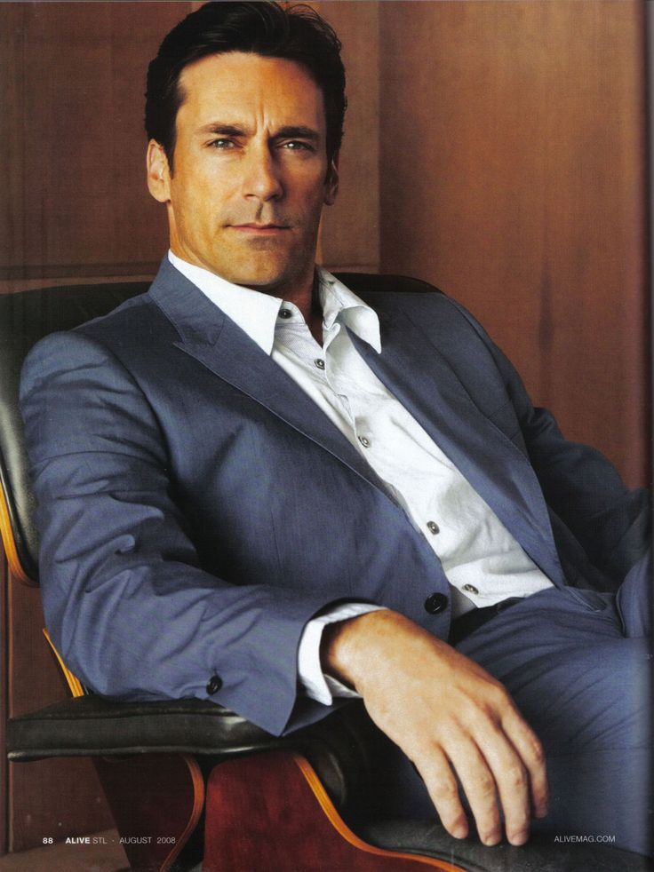 Jon Hamm.  Somebody needs to create a new show for him because I need to see this man on my TV every week.