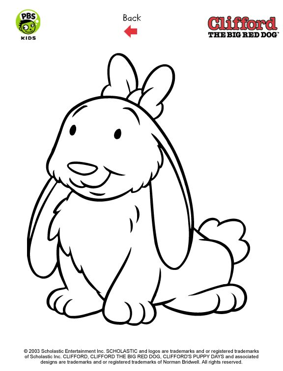 clifford preschool coloring pages - photo#22