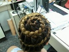 spiral hair braid