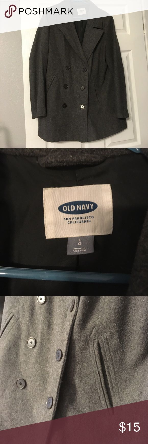 Old Navy light weight peacoat Classic wool pea-coat. Great for spring/fall. Old Navy Jackets & Coats Pea Coats
