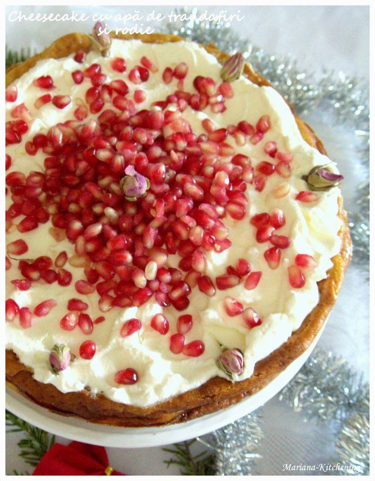 Kitchening: Cheesecake cu apă de trandafiri și rodie/Rose water and pomegranate cheesecake