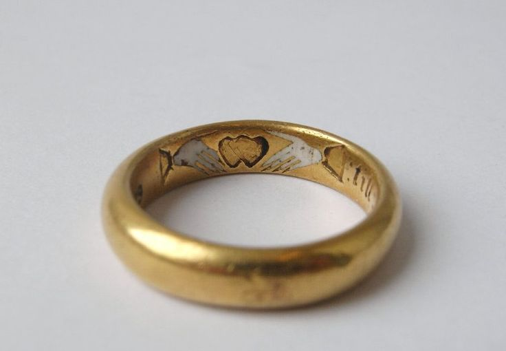 'Two hands, one heart, Till death us part.' Made in England in the 17th century