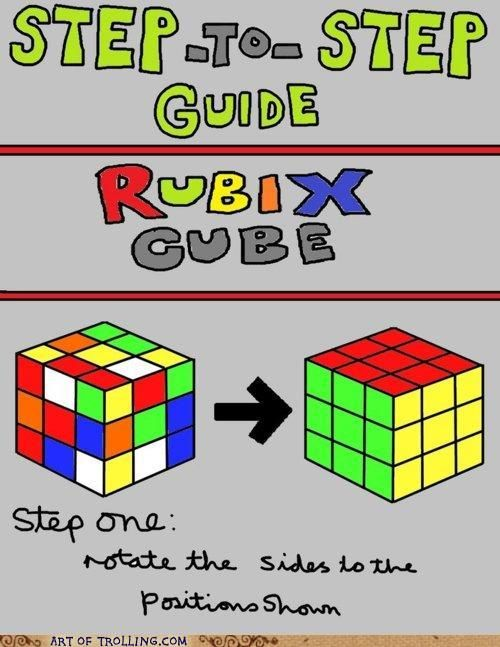 haha: Step Rubix, Rubix Cubes, Funny Things, Geek Superhero, Stepbystep Guide, Funny Pictures, Funny Stuff, Cubes Guide, Easy Peasi
