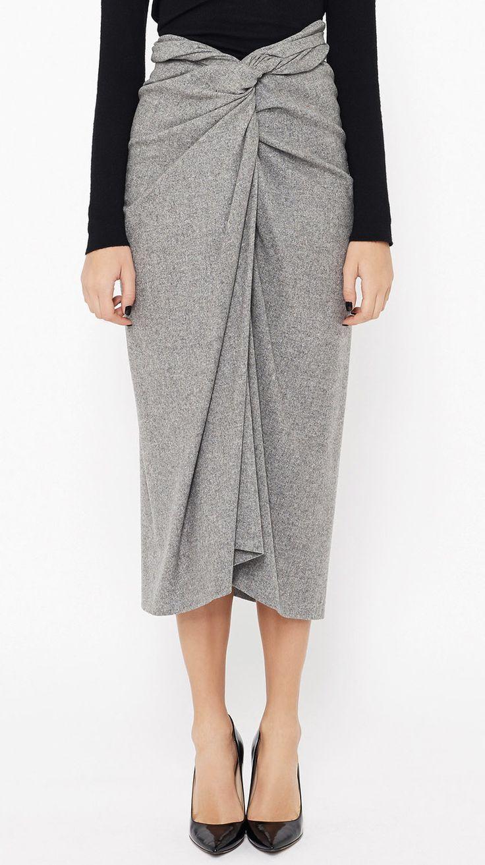 draped skirt - dries van noten