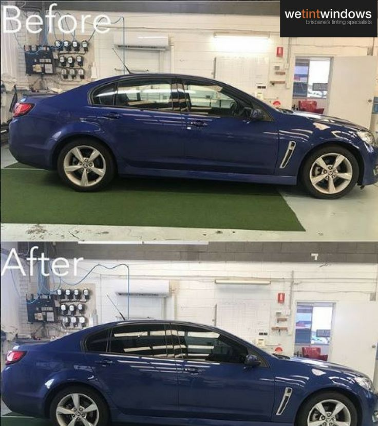 Another before and after, with dark car window tint. Look