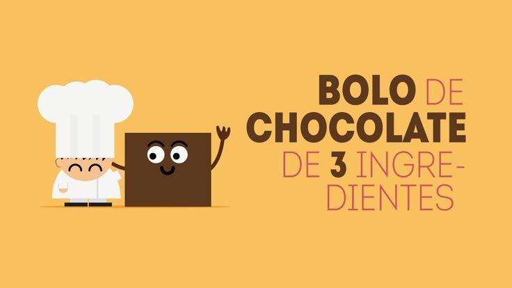 Curta com sabor 10 - Bolo de chocolate de 3 ingredientes
