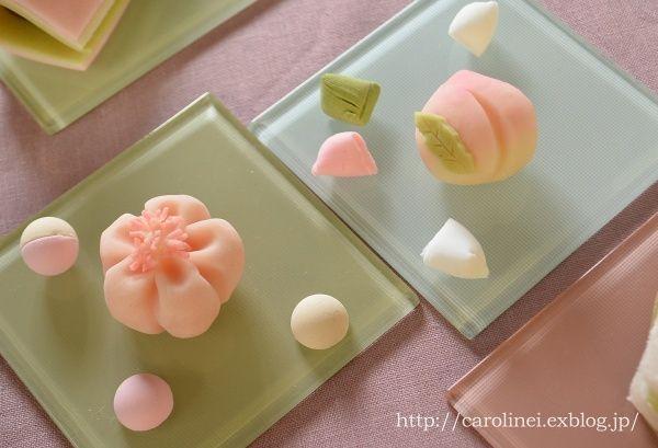 雛祭りの練りきり Homemade Japanese Sweets of the Doll's Festival