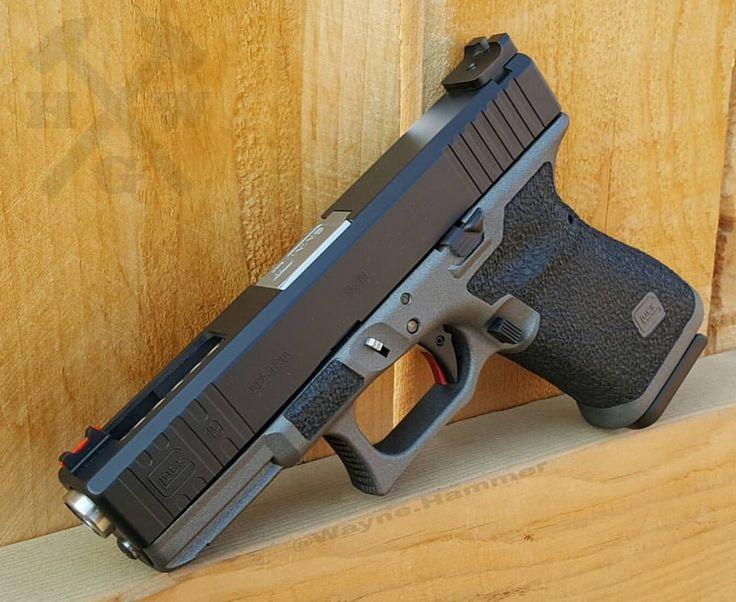 "315 Likes, 12 Comments - Wayne Hammer (@mls_customs) on Instagram: ""Glock 19 gen 3,  FRAME: Spippled frame Double undercut trigger guard Mag release bevel Finger…"""
