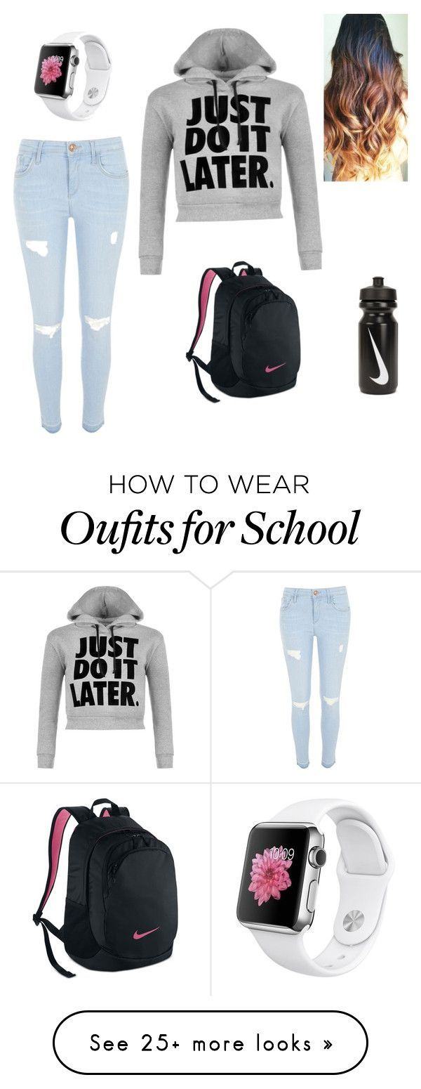 """""""School"""" by j-ashley2002 on Polyvore featuring NIKE, River Island and WearAll https://bellanblue.com"""