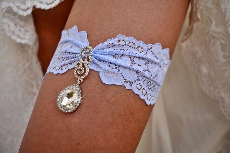 Wedding Gift Blue, Bridal Garter Set, Light Blue Garter, Lace Garters, Lace Bridal Garter, Blue Garter Set, Crystal Garters, Something Blue by ZizelBridal on Etsy https://www.etsy.com/listing/501169353/wedding-gift-blue-bridal-garter-set