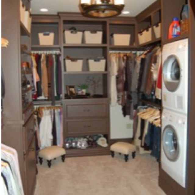 Laundry Room With Walk In Closet Laundry Room In Walk In Closet