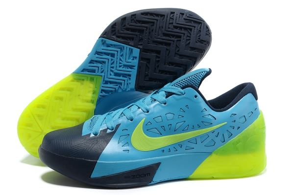 Nike Kevin Durant's KD Trey V Dark Moon/Blue/Green Basketball shoes