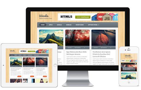 Woodie A 3 Column Layout Responsive Digital Corporate WordPress Theme