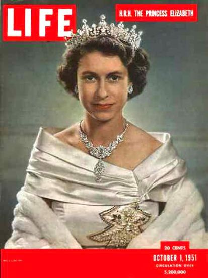 Life Magazine Copyright 1951 HRM The Princess Elizabeth