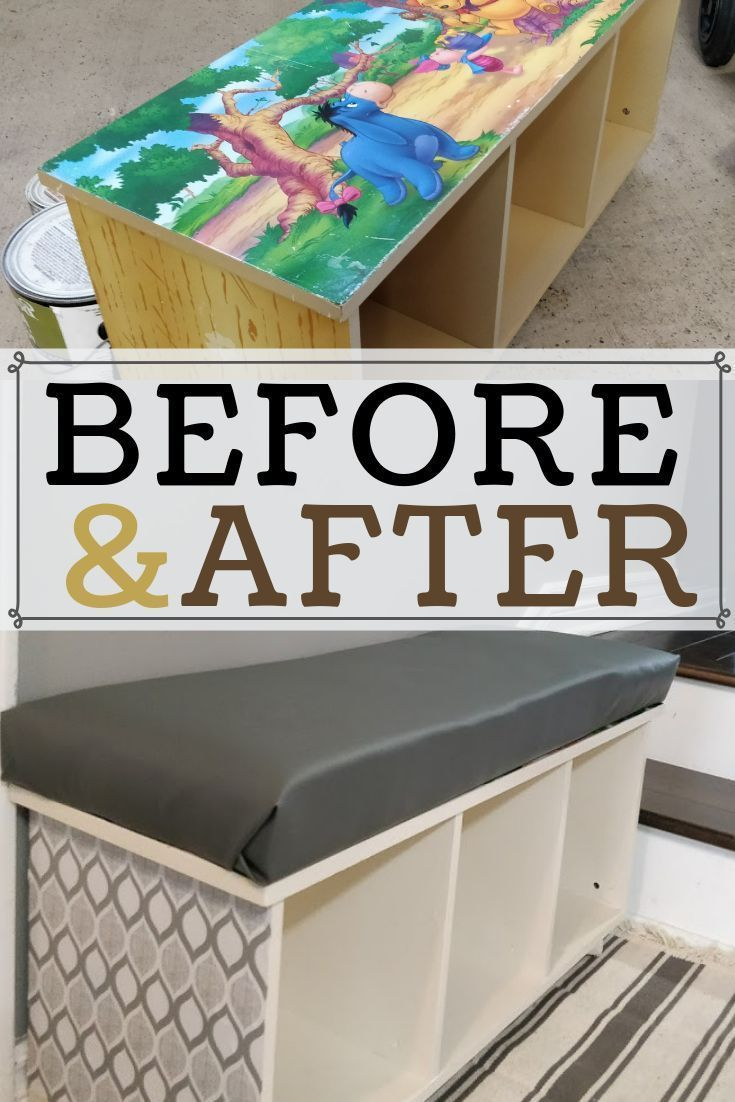 Diy Cubby Storage Made From Old Toy Shelf Diy Storage Bench Diy Cubbies Storage Diy Storage