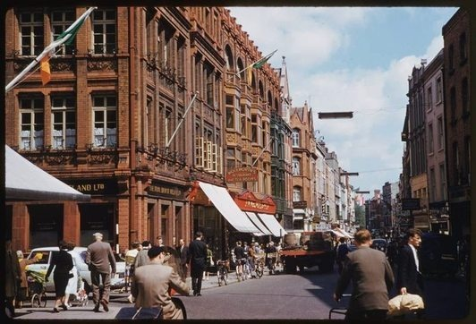 Dublin's Grafton Street on a summers day in 1961 by Charles W. Cushman