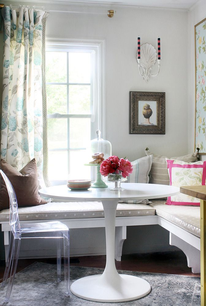 See more images from cheery breakfast nook makeover on domino.com