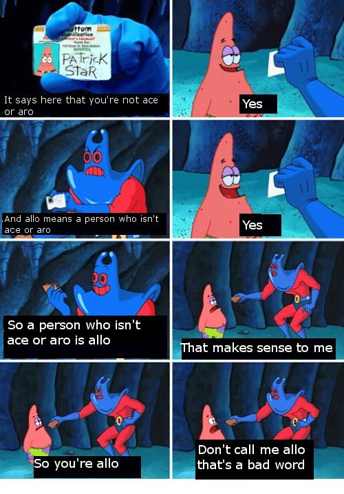 Zema's Memes for Ace and Aro Teens | Spongebob jokes ...