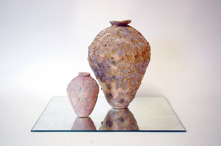 ALANA WILSON | DUSK. PORCELAIN PAPERCLAY WITH MIXED REACTIVE SLIPS AND GLAZES. DIMENSIONS VARIABLE