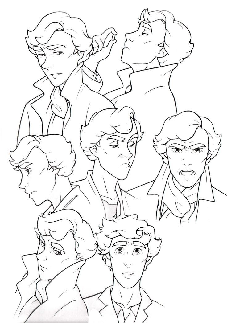 Sherlock Comic easy to draw