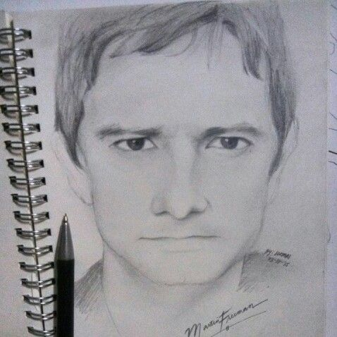 Portrait of Martin Freeman #martinfreeman #appealingeyes #drawing