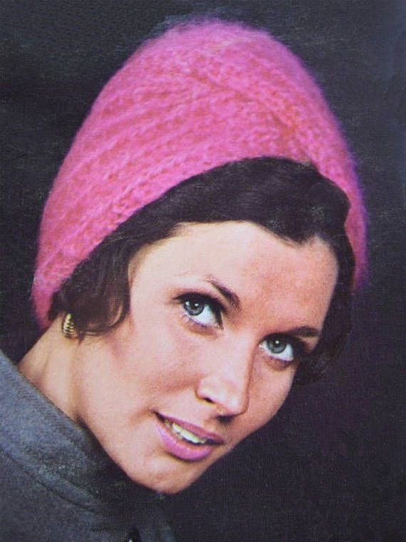 PDF Vintage 1960s Womens Luxury Turban Hat Knitting Pattern