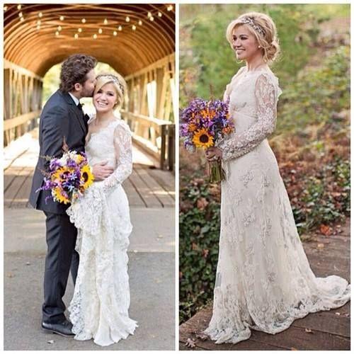 Celebrity Wedding Dress Inspiration : Celebrity wedding dress inspiration on weddings