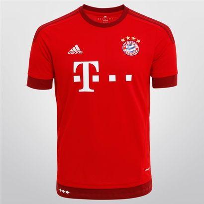 Camisa Adidas Bayern de Munique Home 2015 s/nº - Branco