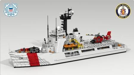LEGO Coast Guard Cutter | ... Class US Coast Guard Cutter | ReBrick | From LEGO Fan To LEGO Fan