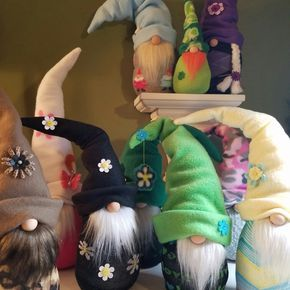 Spring Sock Gnomes can be customized, just ask!