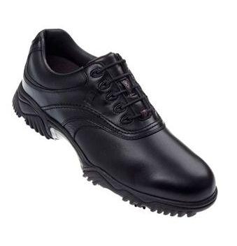 Footjoy Contour Series Black Leather Black Tumbled Underlay