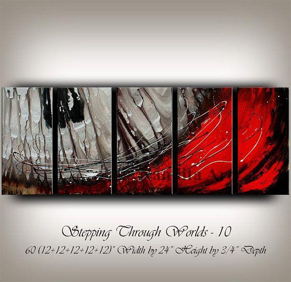 Gran pintura moderna abstracta Original arte contemporáneo