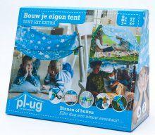 NEW// PL-UG, het allernieuwst tenten en hutten bouwsysteem! Het alternatief voor de Crazyforts! Bouw met doeken en dekens je eigen kamp, binnen of buiten. De pl-ugs helpen je er een stevig bouwwerk van te maken. Plezier verzekerd.