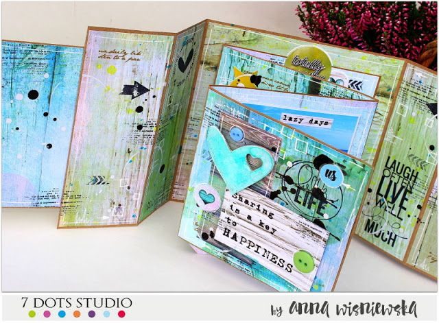 Be inspired - free-style mini album for 7 Dots Studio
